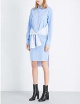 Maison Margiela Tie-waist cotton shirt dress