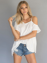 Free People Coraline Tee in White