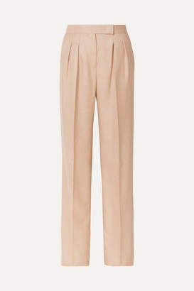 Max Mara Camel Hair And Silk-blend Wide-leg Pants - Sand