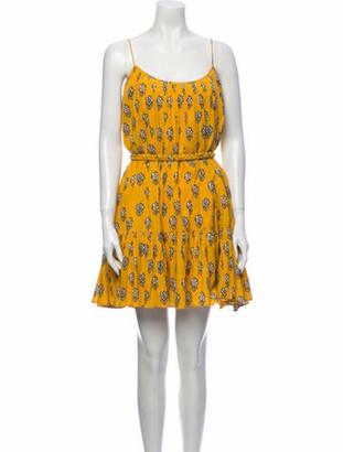 Rhode Resort Printed Mini Dress w/ Tags Yellow Printed Mini Dress w/ Tags