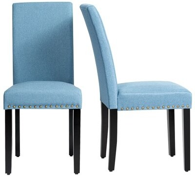 Red Barrel Studio Linen Upholstered Parsons Chair Upholstery Color Blue Shopstyle