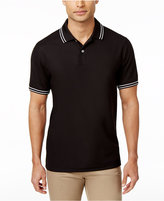 Club Room Men's Striped-Trim Polo, Created for Macy's
