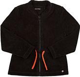 Sorry 4 the Mess Fleece Zip-Front Jacket-Black