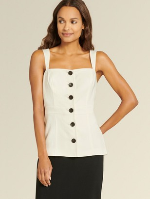 DKNY Sleeveless Button Front Top