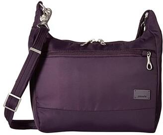 Pacsafe Citysafe CS100 Anti-Theft Travel Handbag (Mulberry) Handbags