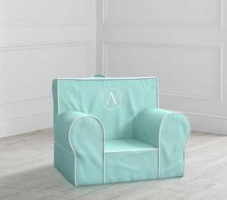 Pottery Barn Kids My First Aqua with White Piping Anywhere Chair Slipcover Only