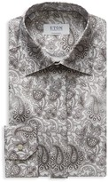 Eton Contemporary Fit Paisley Crease Resistant Dress Shirt