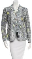Calvin Klein Collection Linen Floral Printed Blazer w/ Tags