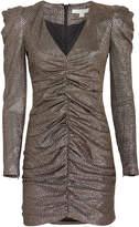 Jonathan Simkhai Lame Puff Sleeve Mini Dress