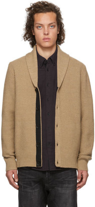 Rag & Bone Brown Cardiff Shawl Cardigan