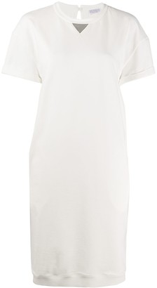 Brunello Cucinelli Short-Sleeved Sweatshirt Dress