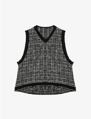 Maje Liaco tweed vest top