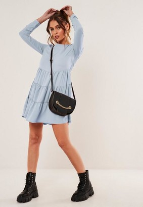 Missguided Chiffon Tiered Smock Dress
