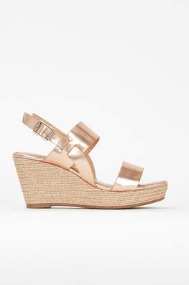 Wallis **Gold Low Heel Wedge