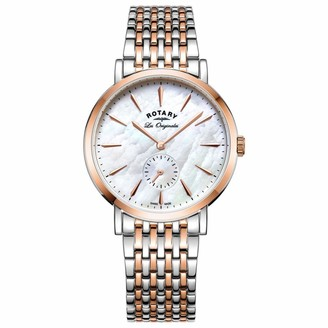 Rotary Womens Analogue Classic Quartz Watch with Stainless Steel Strap LB90191/41
