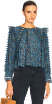 Sea Crochet Pom Pom Top