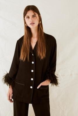 Sleeper Black Party Pyjamas Set - Black M at Urban Outfitters