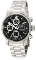 Fortis Flieger Stainless Steel Black Chronograph Watch