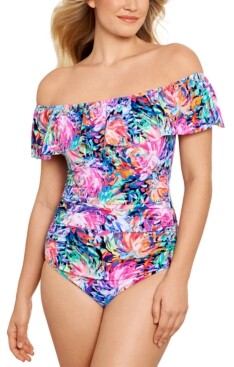Swim Solutions One-Piece Swimsuit, Created for Macy's Women's Swimsuit