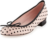 RED Valentino Polka-Dot Leather Ballerina Flat, Multi
