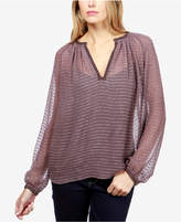 Lucky Brand Sheer Embellished Blouse