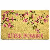 Asstd National Brand Pink Power Rectangular Doormat