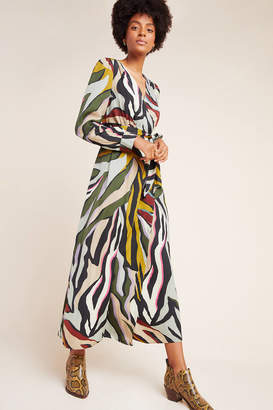 Corey Lynn Calter Zebra Wrap Dress