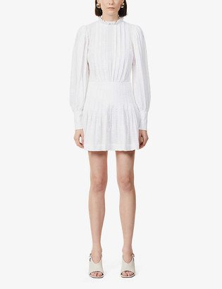 Bec & Bridge Elodie pin-tucked panelling cotton mini dress