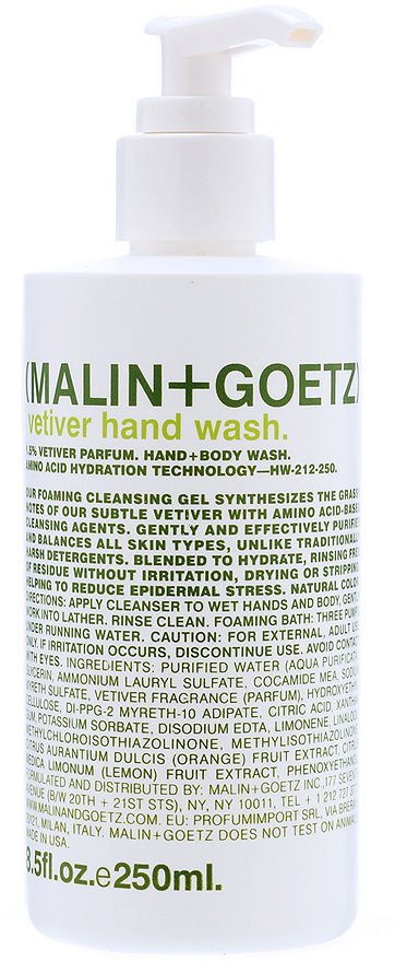 Malin+Goetz Vetiver Hand Wash 8.5 oz (250 ml)