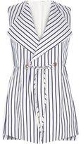 River Island Womens RI Plus navy stripe sleeveless jacket