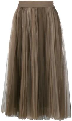 Brunello Cucinelli Pleated Mid-Length Skirt