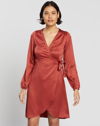 Vero Moda Women's Red Mini Dresses - Gamma Wrap Dress - Size One Size, S at The Iconic