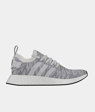 adidas White Core Black Nmd R2 Primeknit Shoes - leather | 7 | white - White/White