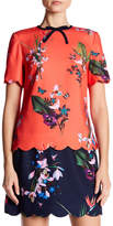 Ted Baker Syndi Floral Scalloped Top
