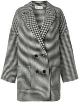RED Valentino pied-de-poule peacoat - women - Polyamide/Polyester/Acetate/other fibers - 38