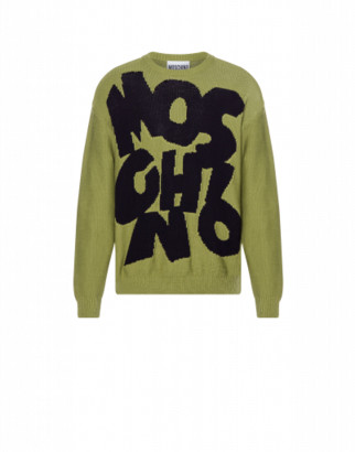 Moschino Cotton Blend Sweater Cut-out Logo