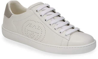 Gucci New Ace Perforated Leather Sneakers