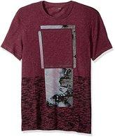 Calvin Klein Jeans Men's Distress Ombre Box Ck Logo Crew Neck T-Shirt