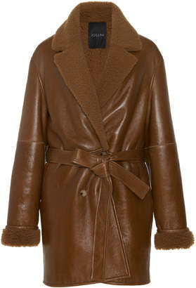 Joseph Camil Sheepskin Wrap Coat