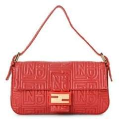 Fendi Vintage Leather Baguette Shoulder Bag