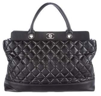 Chanel Quilted Calfskin Shopper Tote