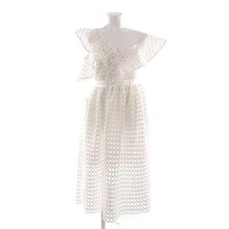 Self-Portrait White Polyester Dresses