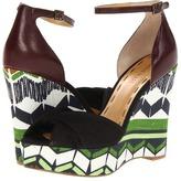 Nine West Dig (Black/Brown Canvas) - Footwear