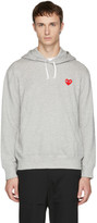 Comme des Garcons Grey & Red Heart Patch Hoodie