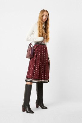 French Connection Claudina Pleated Wrap Skirt