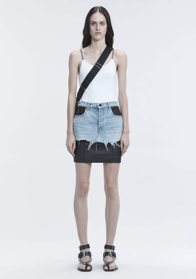 Alexander Wang TANK WITH CHAIN STRAPS TOP