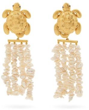 BEGÜM KHAN Tortuga Florence 24kt Gold-plated Clip Earrings - Gold