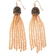 Natasha Accessories Champagne Crystal Drop Earrings