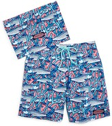 Vineyard Vines Boys' Bonefish Coral Swim Trunks - Big Kid