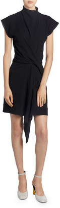 Nina Ricci Asymmetric Draped Front Dress